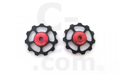 C-Bear Alloy Pulley Ceramic Jockey wheel Shimano/Sram 10-11 spd(pull-alu) - Cigala Cycling Retail