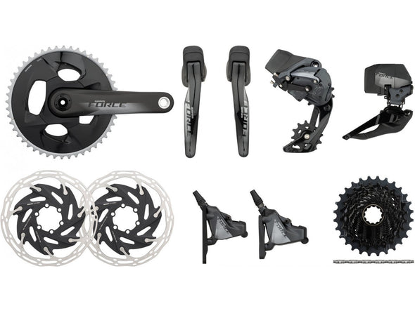 Sram Force eTap AXS HRD 2x12s Wireless Road Disc Groupset