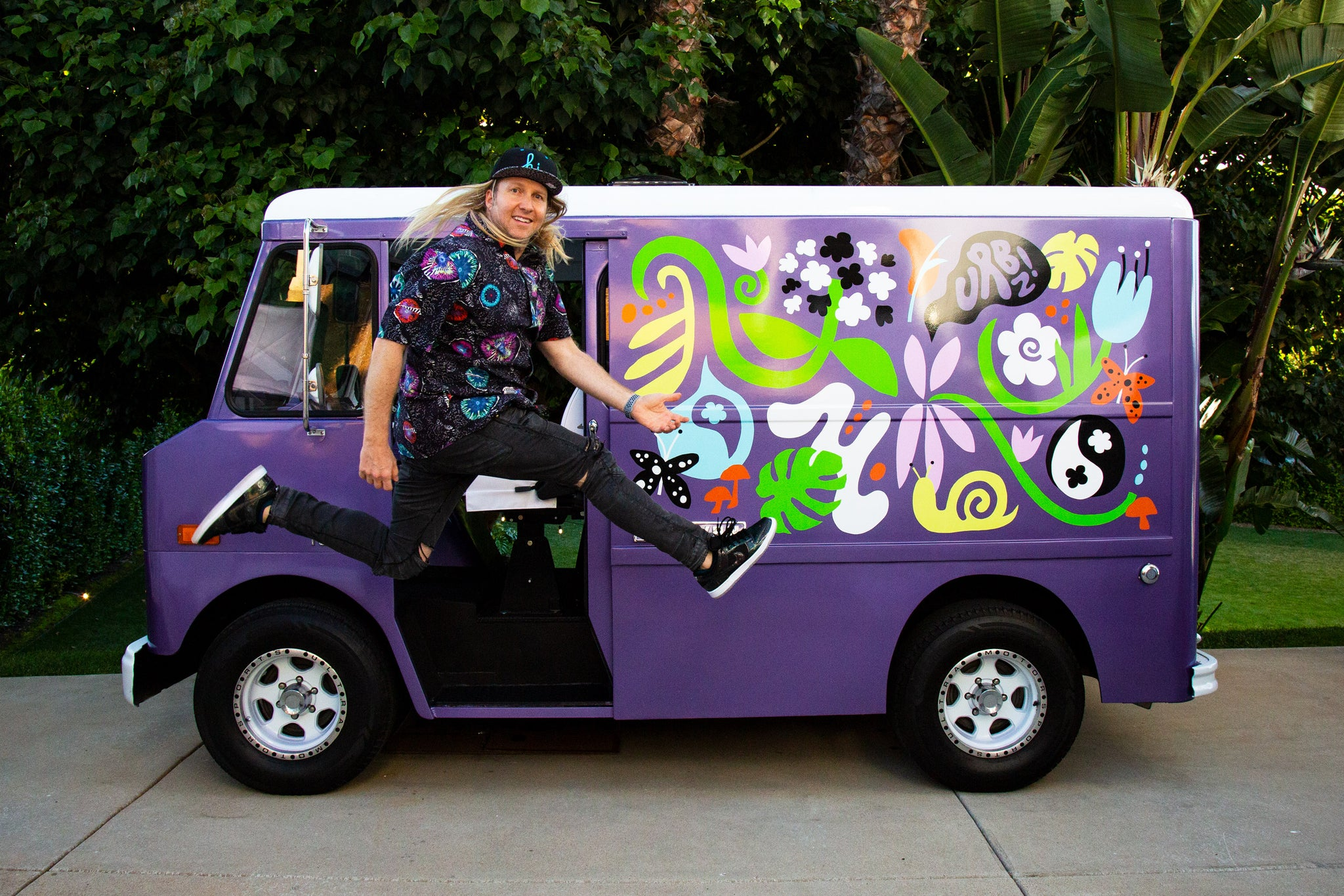 Andy Bass Rocking Out with his 1969 Chevy P10 Step Van