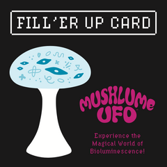 Mushlume UFO Gift Option Card