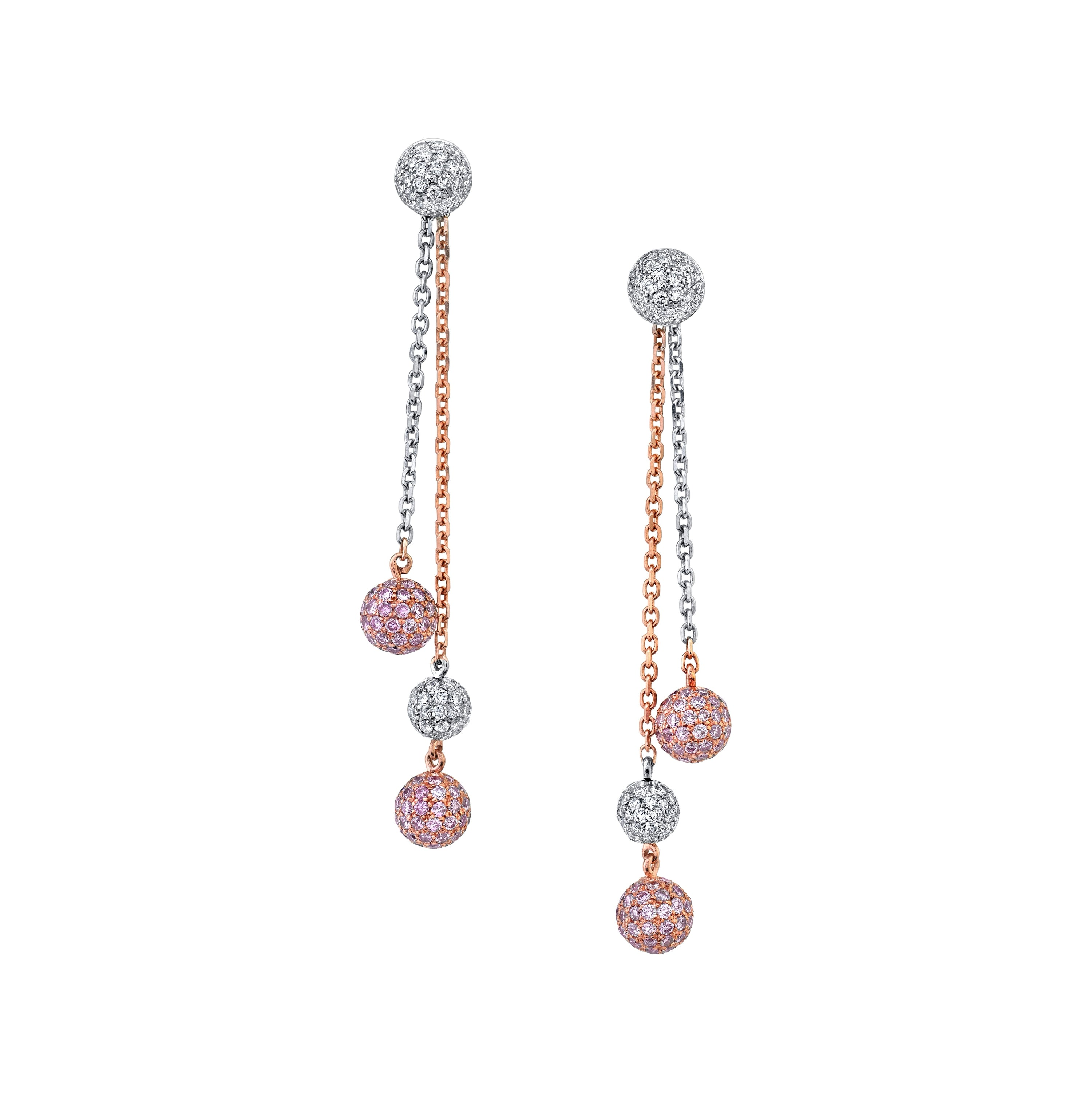 PINK DIAMOND DROP EARRINGS