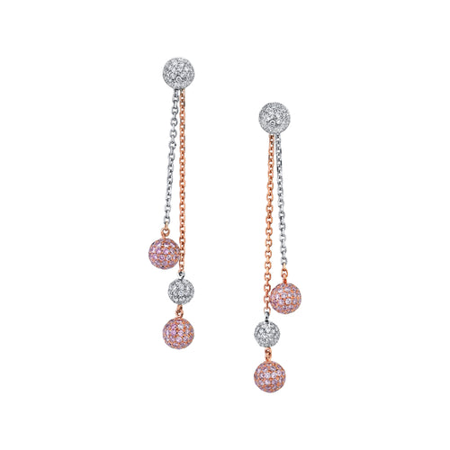 Pink Diamond Drops Earrings