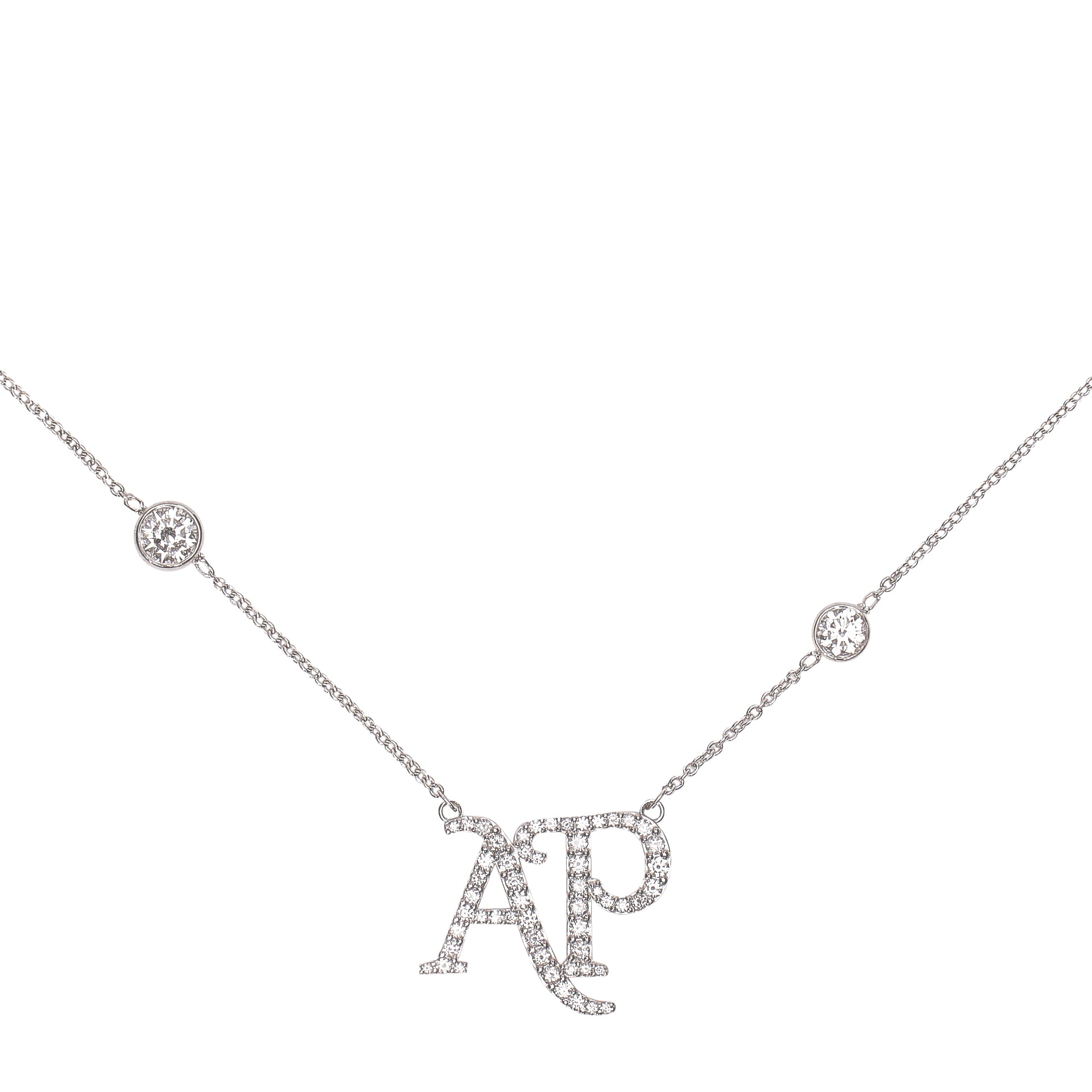 DIAMOND LOGO NECKLACE