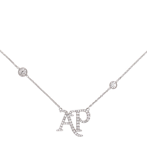 DIAMOND AP LOGO NECKLACE