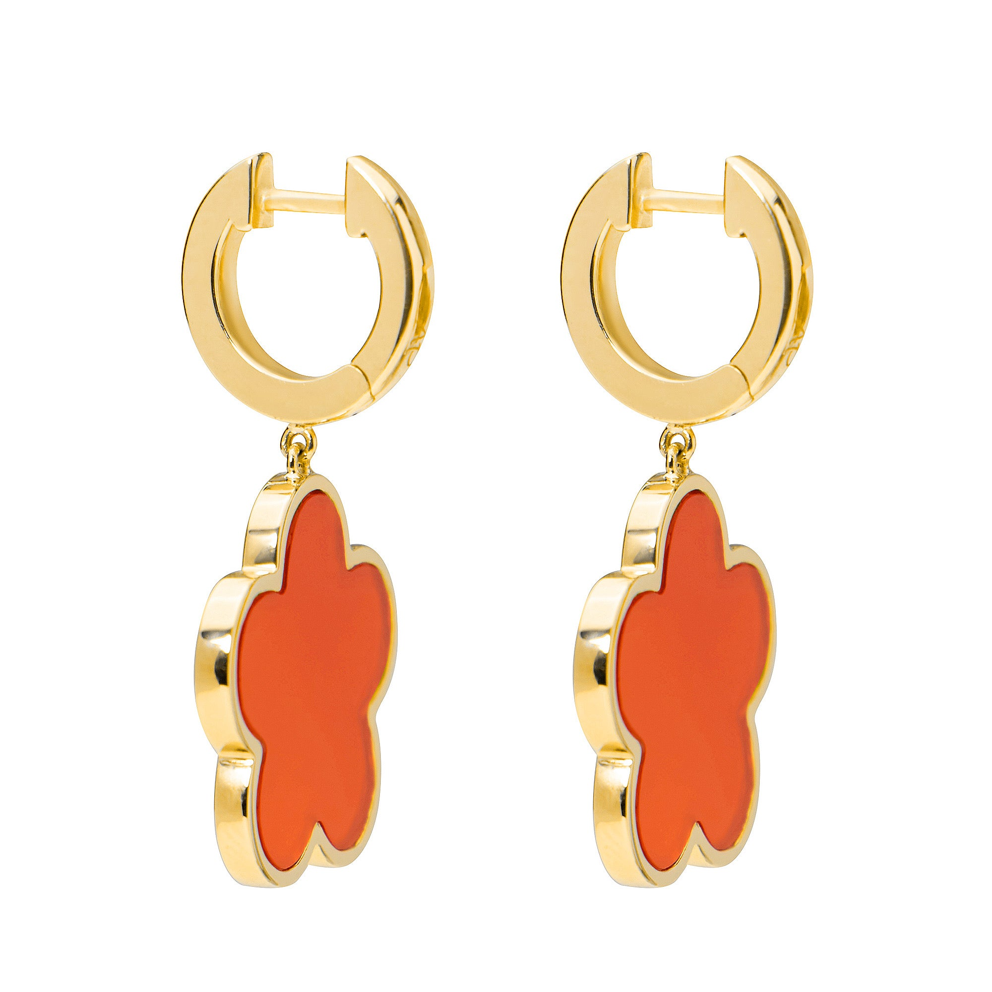 Red Onyx Drop Earrings