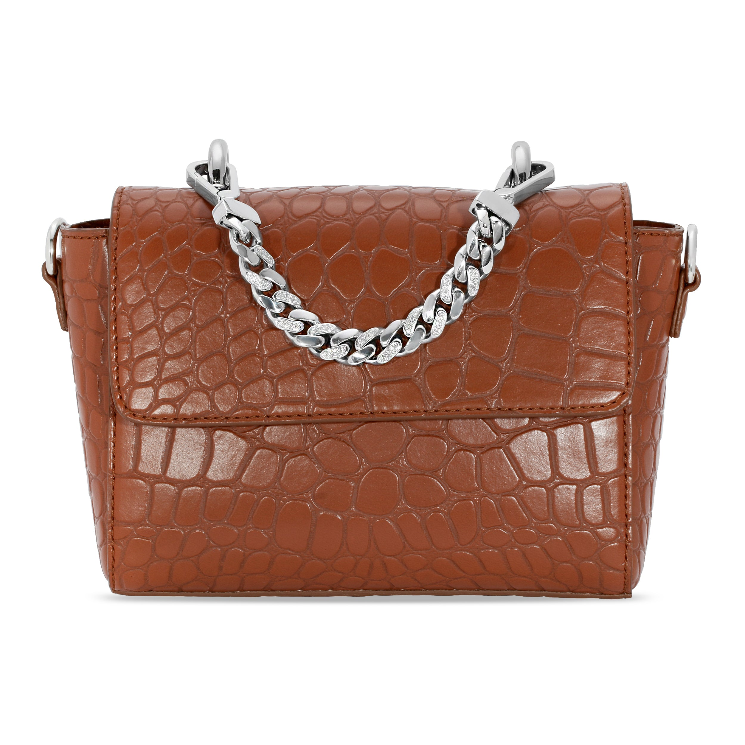 DIAMOND HANDLE HANDBAG
