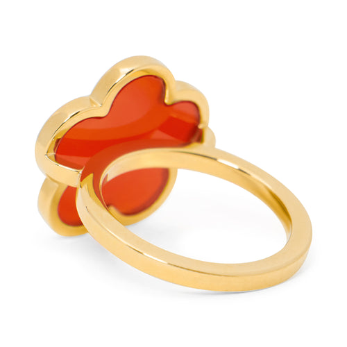 Red Onyx Flower Ring