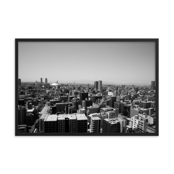 Black and White Osaka Print
