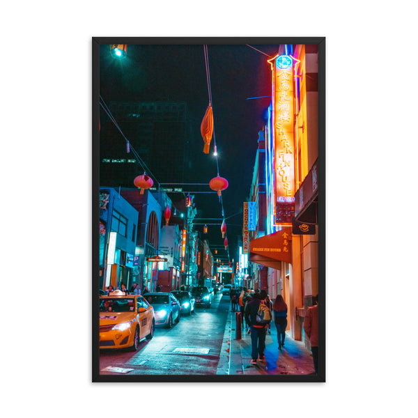 Chinatown at Night Print