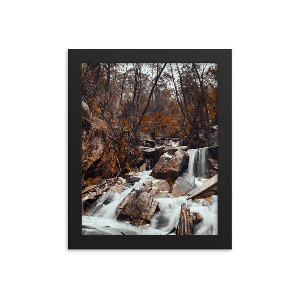 Waterfall at Winter Print
