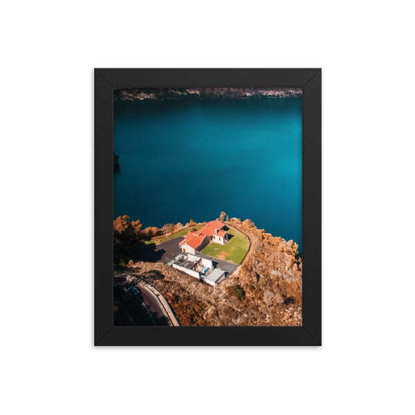 House Beside Blue Lake Print