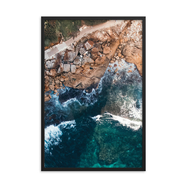Waves and Stones Print