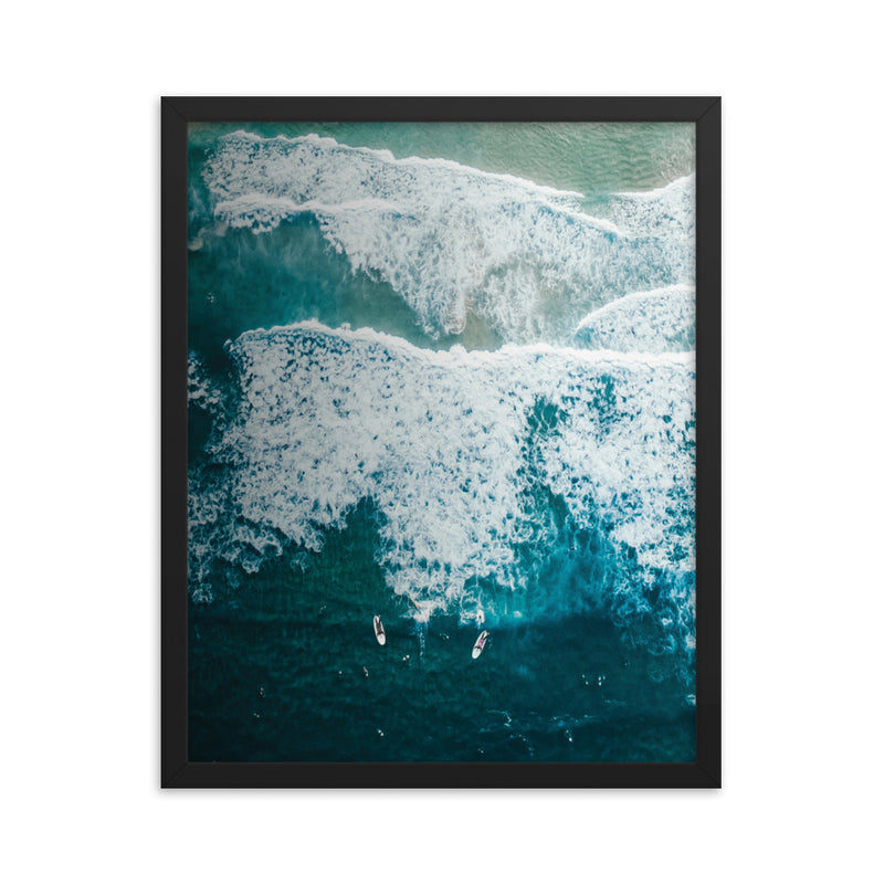 Surfer and Waves Print
