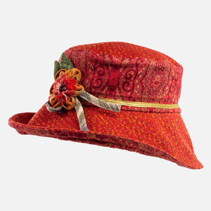 Vintage Orange Tapestry Hat