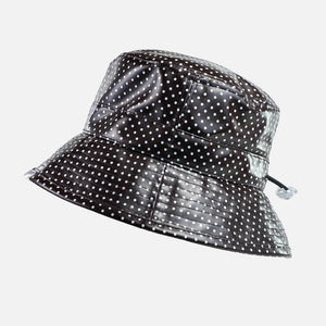 PVC Spotted Rain hat with Adjustable sizing