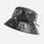 PVC Dark Brown Spotted Rain hat with Adjustable sizing