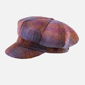 Tweed Wool Baker Boy Cap