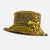 Vintage Boned Olive Green Hat with Velvet Bow Decoration