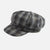 Grey & Black Checked Winter Baker Boy peak Cap.