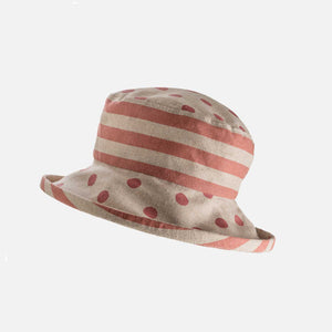 PT04 - Japanese Linen Spotty Stripey Hat