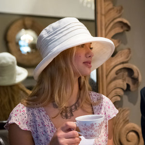 Large Brim Linen, Packable Sun Hat
