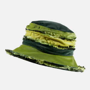 Fern and Lime Fluffy Velvet Hat