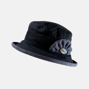 Waxed Cotton Small Brim Hat