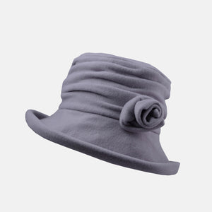 PT77 - Cosy Fleece Hat with Detachable Flower