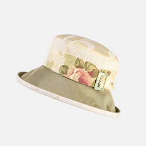 Vintage Fabric Hat with Buckle