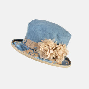 Small Boned Brim Hat Vintage Fabric