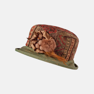 Tapestry Hat with Small Boned Brim