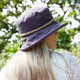 Packable Linen Sun Hat with String Plait
