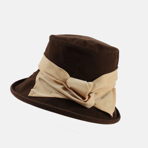 Water Resistant Wide Brim Velour Hat