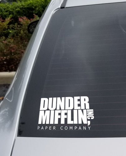 Dunder Mifflin Car Decal