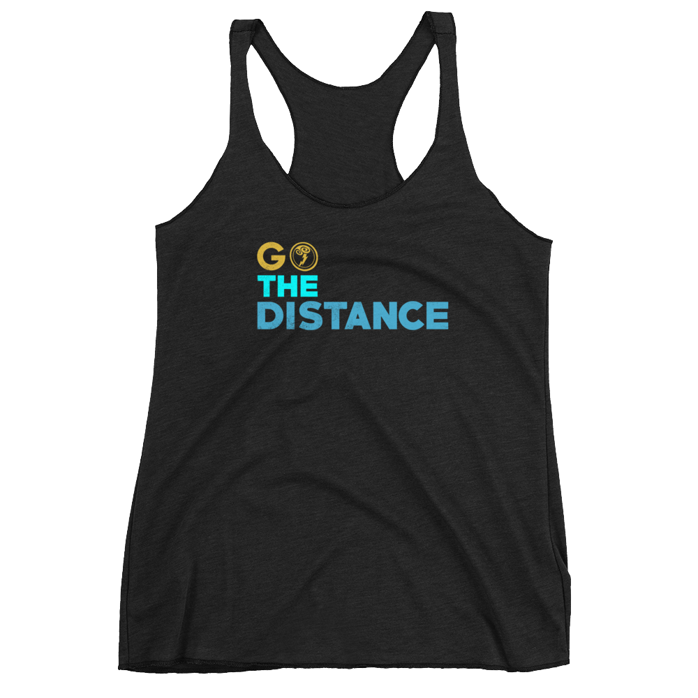 Go The Distance - Womens Racerback Tank