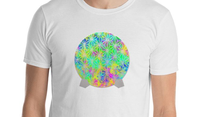 Neon Spaceship Earth - Unisex Crew Tee