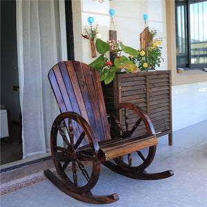 Wagon Wheel Rocking Chair