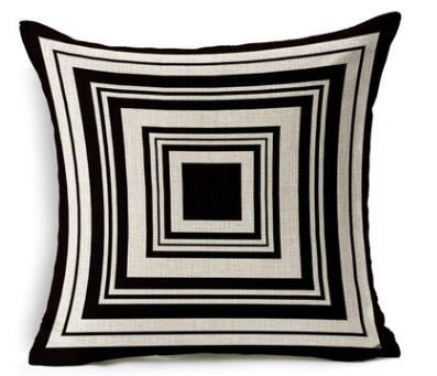 Black and White Geometry Pillows