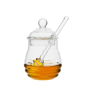 9oz. Crystal Honey Jar with Dipper