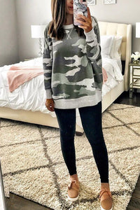 Fashion Camouflage Long Sleeve T-Shirt