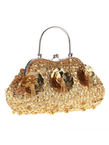 Floral  Glitter Evening Clutch Bag