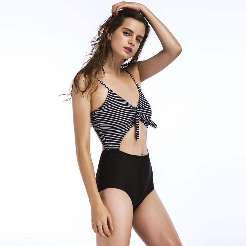 Ladies Sexy Striped Swimwear