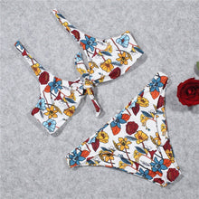 Load image into Gallery viewer, Flower Printed Strap Swimsuit