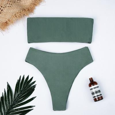 Fashion Pure Color Sexy Bikini Swimwear