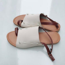 Load image into Gallery viewer, Plus Size Leisure Buckle Casual Flat Roman Sandals