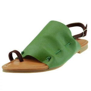 Plus Size Leisure Buckle Casual Flat Roman Sandals