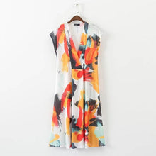 Load image into Gallery viewer, V-Neck Printed Maxi Dress