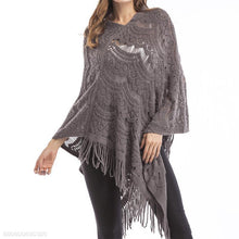 Load image into Gallery viewer, Tassel Cloak Pure Color Large Size Sweater