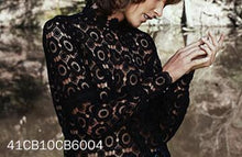 Load image into Gallery viewer, Hollow Lace Lantern Sleeves Fashion Tops