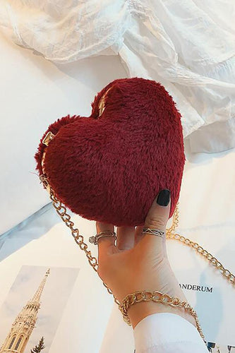 Fashion Elegant Plain Fur Small Evening Chain One Shoulder Bag